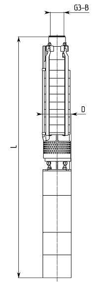 Габаритный чертеж насосного агрегата